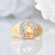 Previously Loved 10Kt Yellow and White Gold Diamond Men's Ring