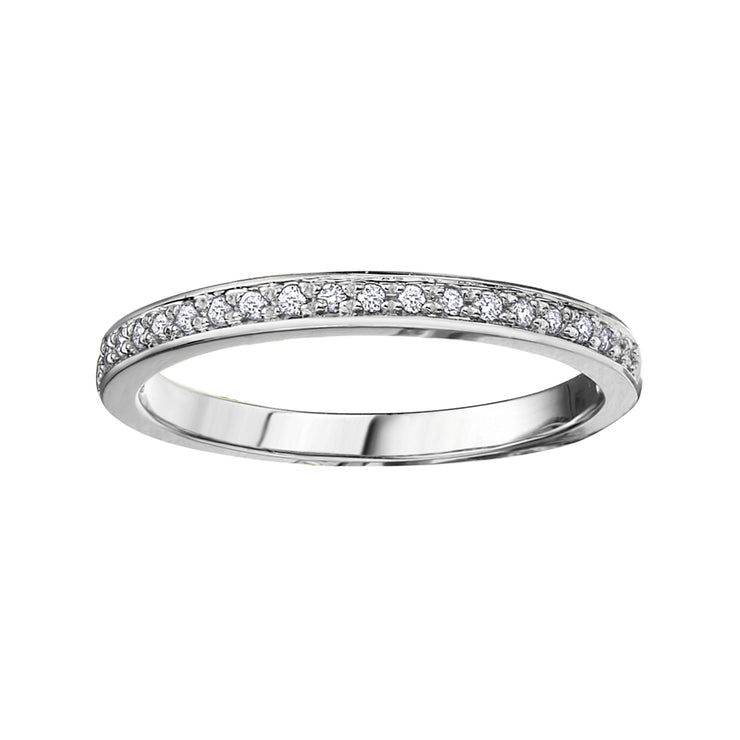 Rose Yellow Or White Gold Diamond Band