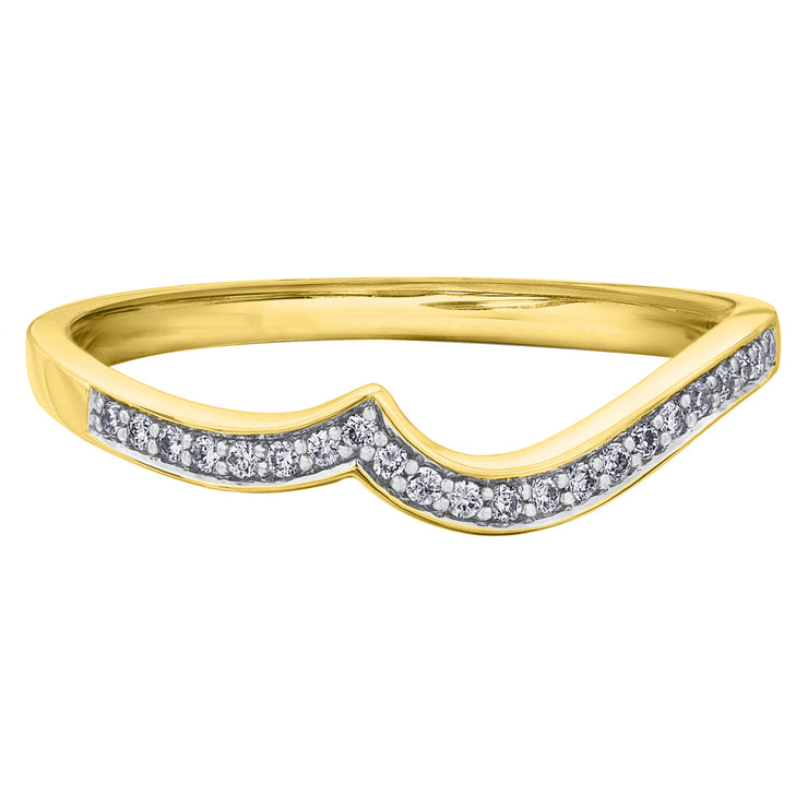 White Yellow Or Rose Gold Diamond Band