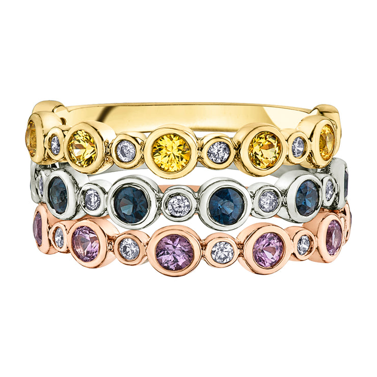 Yellow White Or Rose Gold Sapphire And Diamond Ring