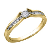 Rose Yellow Or White Gold Diamond Ring