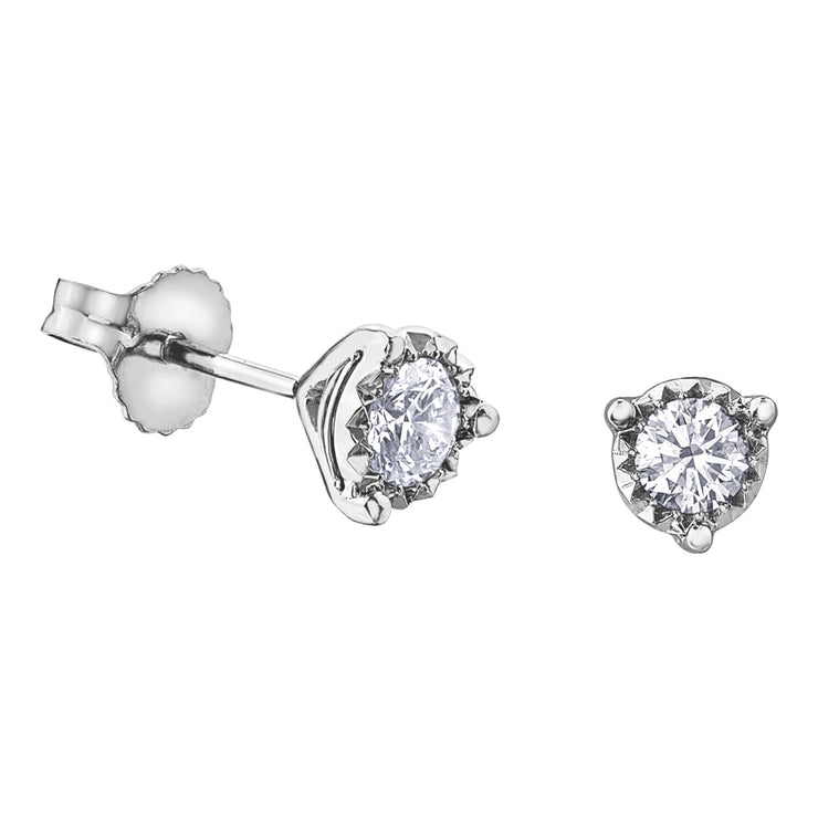 White Gold Diamond Studs