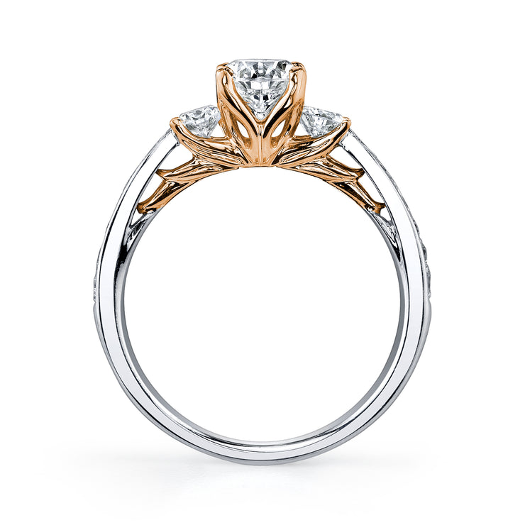 Maple Leaf Diamond Two-Tone Ring