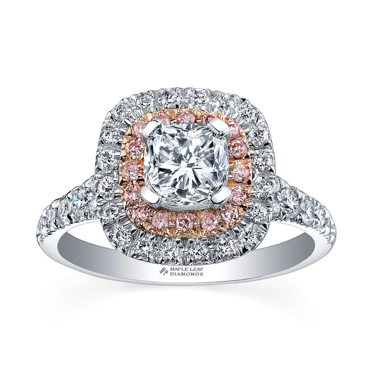 White And Rose Gold Diamond Ring