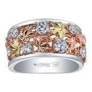 Maple Leaf Diamonds Tri-Colour Ring