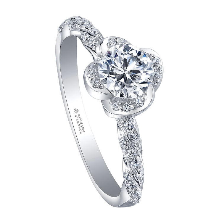 Maple Leaf Diamonds White Gold Diamond Ring