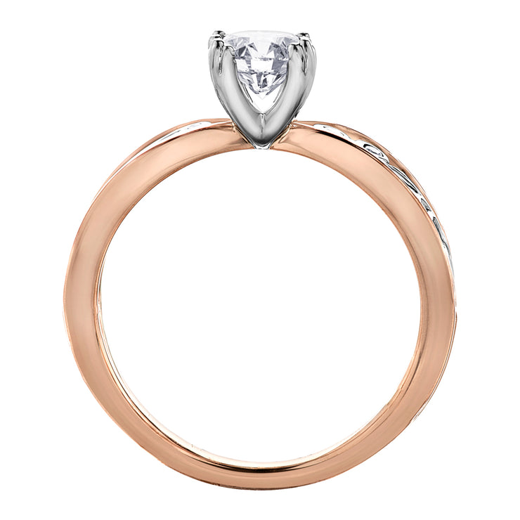 Maple Leaf Diamonds White And Rose Gold Ring