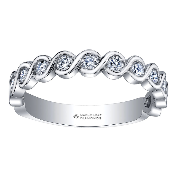 White Gold Canadian Diamond Band