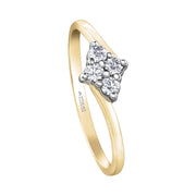 Maple Leaf Diamonds Yellow Gold Diamond Ring