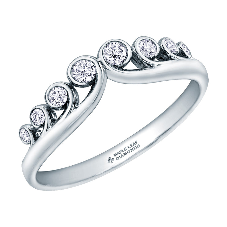White Gold Canadian Diamond Ring