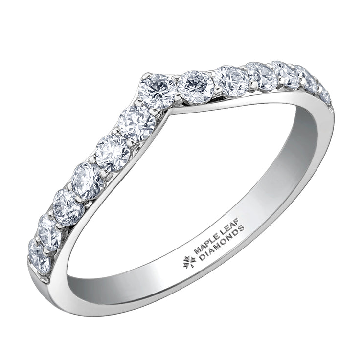 Maple Leaf Diamonds White Gold Diamond Band