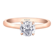 Maple Leaf Diamond Rose Gold Diamond Ring