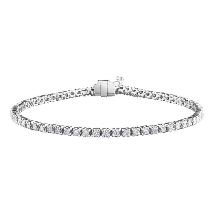 Maple Leaf Diamonds White Gold Tennis Bracelet