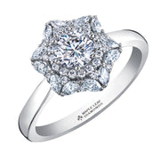 Maple Leaf Diamonds White Gold Ring