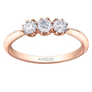 Maple Leaf Diamond Rose Gold Ring