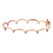 Maple Leaf Diamonds Rose Gold Bracelet