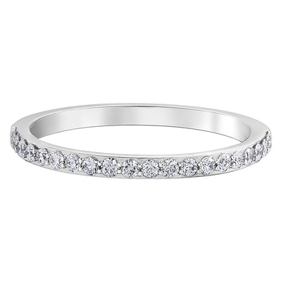 Canadian Maple Leaf White Gold Diamond Band