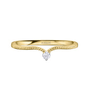 Maple Leaf Diamonds Yellow Gold Ring