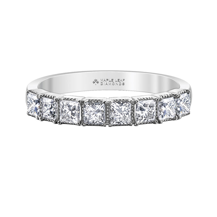 Maple Leaf Diamonds White Gold Band