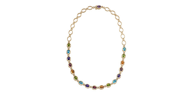 Yellow Gold Gemstone Necklace