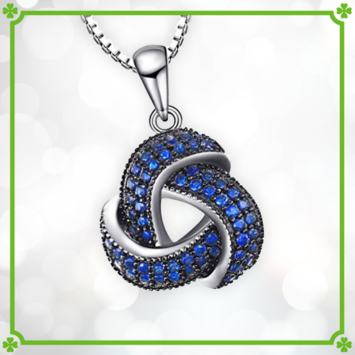 Blue Spinel Trinity Knot Pendant