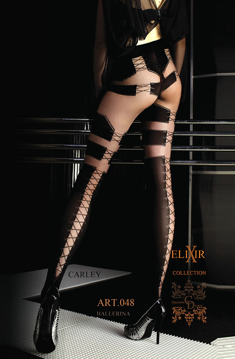 BALLERINA 048 TIGHTS VISONE NERO (BLACK)