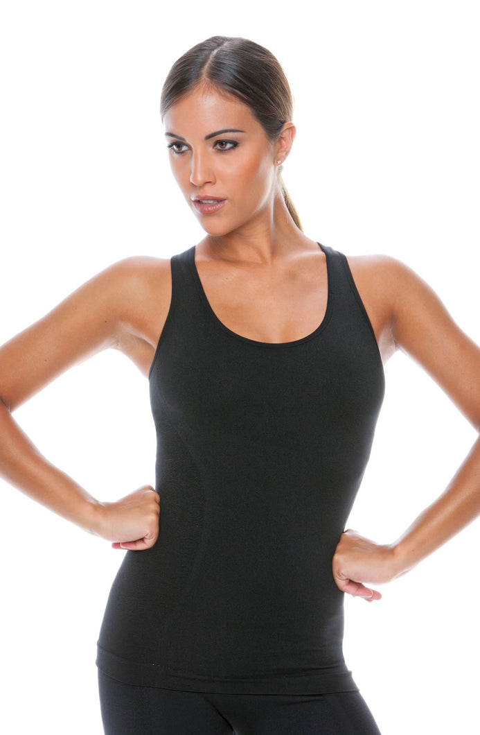 Control Body Tank Top with Bra - Nero (Black)