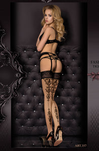 Ballerina 357 Hold Ups Skin / Nero (Black)
