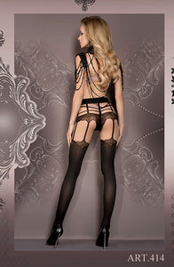 BALLERINA 414 Tights Nero/Skin