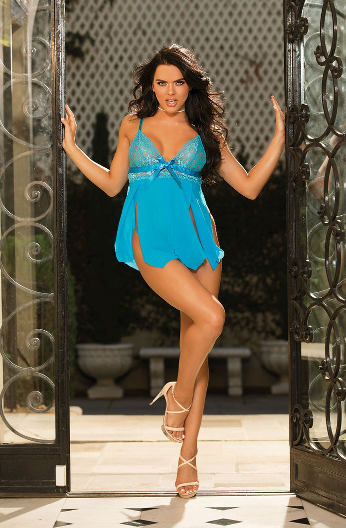 Shirley of Hollywood 96744 Turquoise One Size