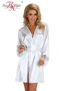 Beauty Night Fabienne DRESSING GOWN SET White