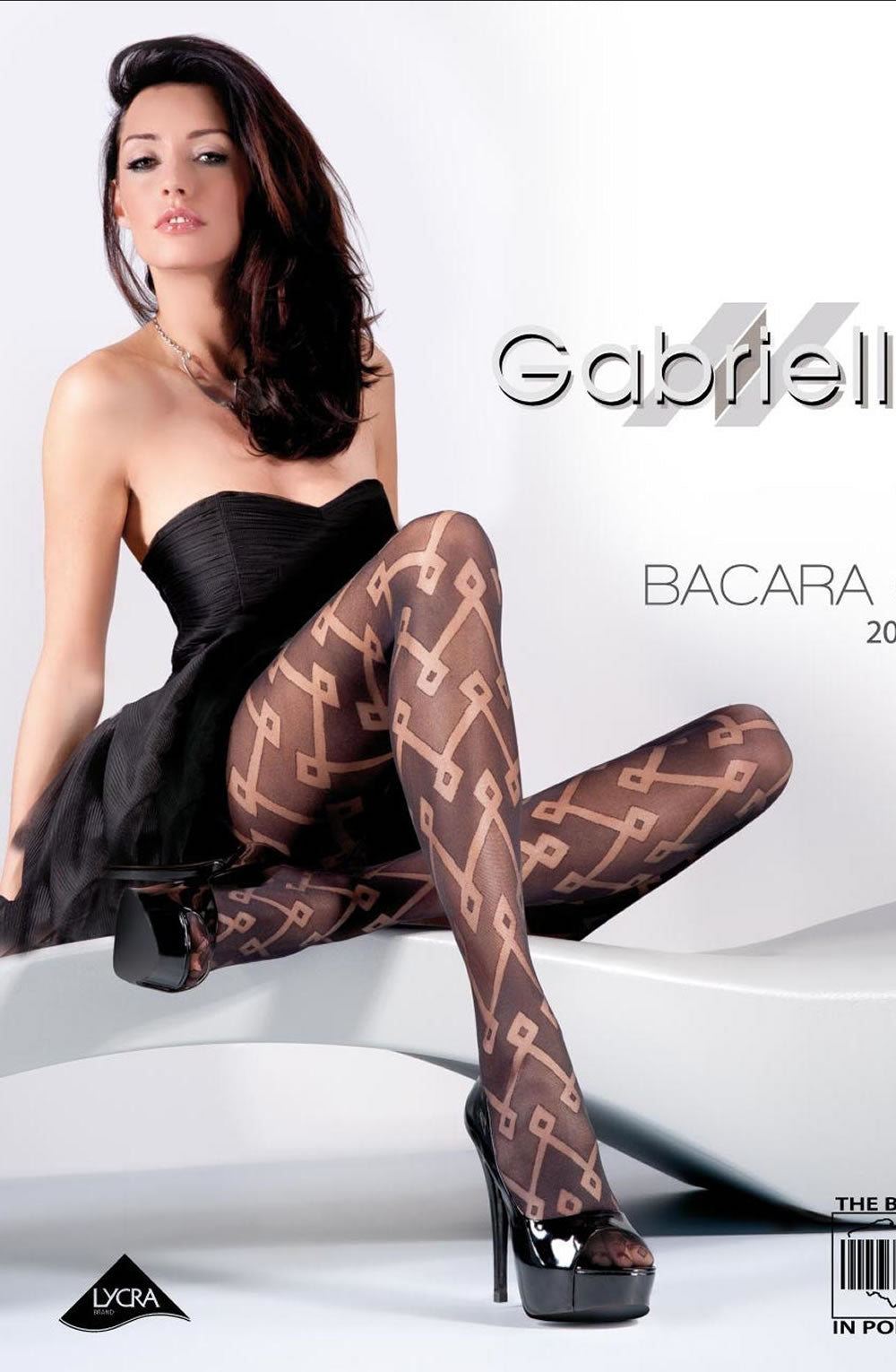 GABRIELLA FANTASIA BACARA 02-476 TIGHTS HOSIERY - NERO (BLACK)