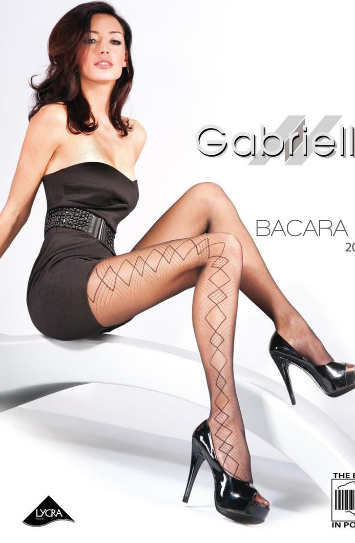 GABRIELLA FANTASIA BACARA 03-477 TIGHTS HOSIERY - NERO (BLACK)