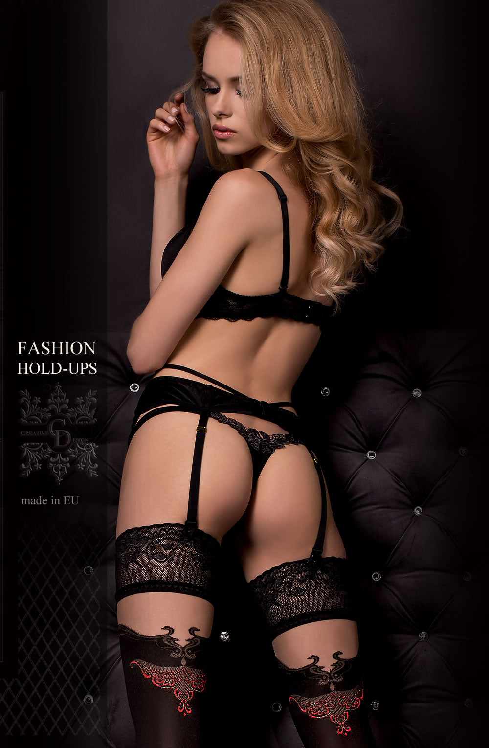 Ballerina 319 Hold Ups Nero(Black)/Skin
