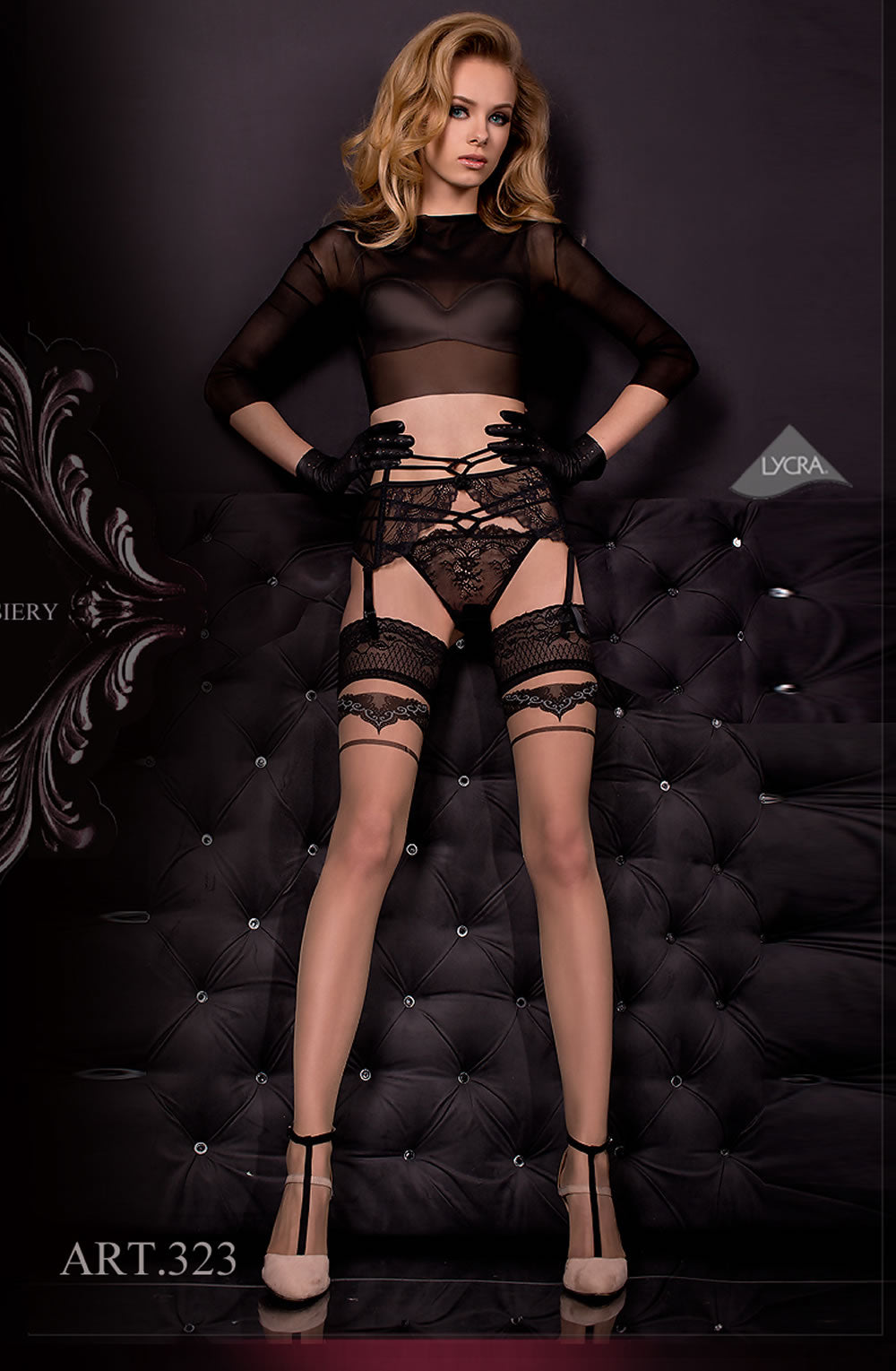 Ballerina 323 Hold Ups Nero(Black)/Skin
