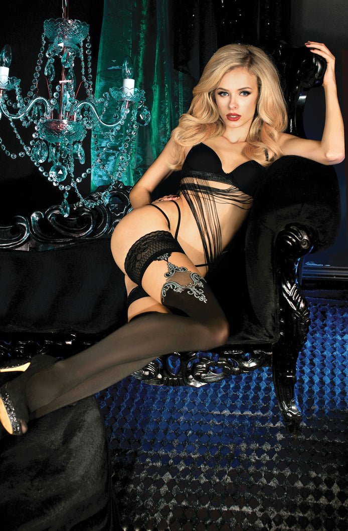 BALLERINA 450 Hold Ups Nero (Black) / Skin