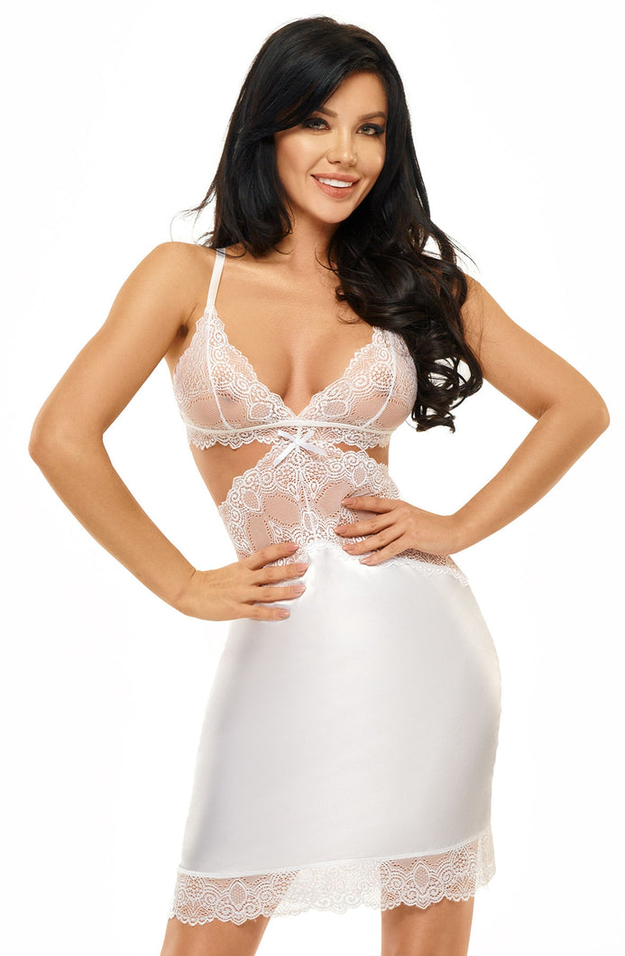 Beauty Night Adelaide Chemise - White