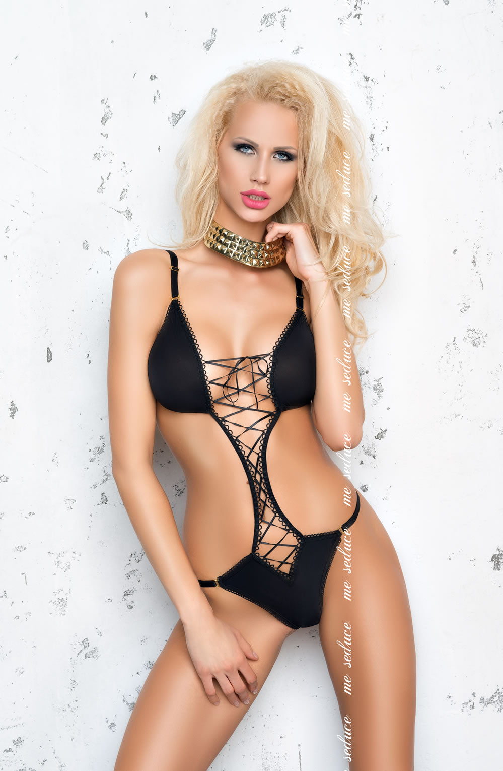 ME SEDUCE Cloe CLUBWEAR BODY BLACK