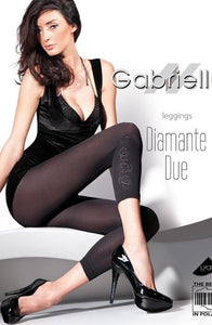 GABRIELLA DIAMANTE DUE 134 LEGGINGS HOSIERY - NERO (BLACK)
