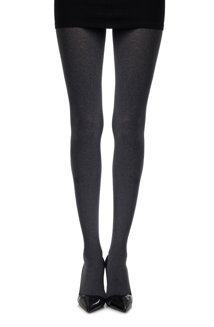 Zohara Heather Grey Opaque Tights Hosiery