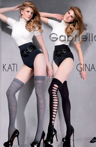 GABRIELLA KATI 157 KNEE HIGHS HOSIERY - SMOKY