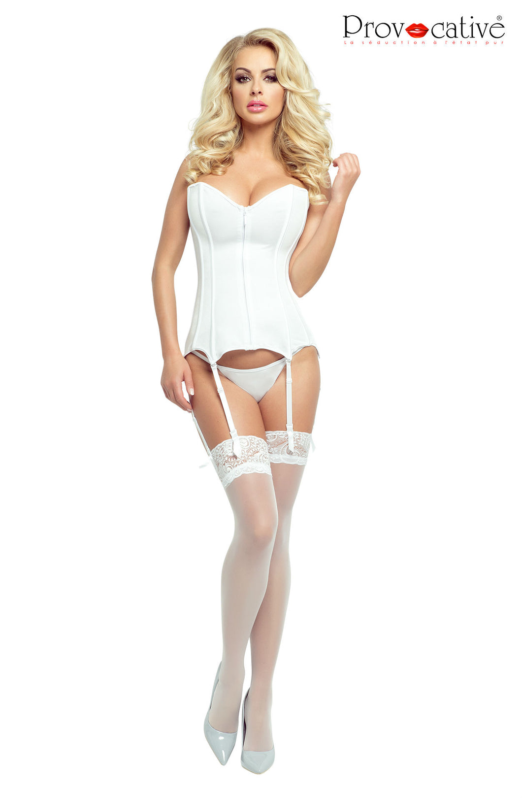 Provocative PR4886 White Corset