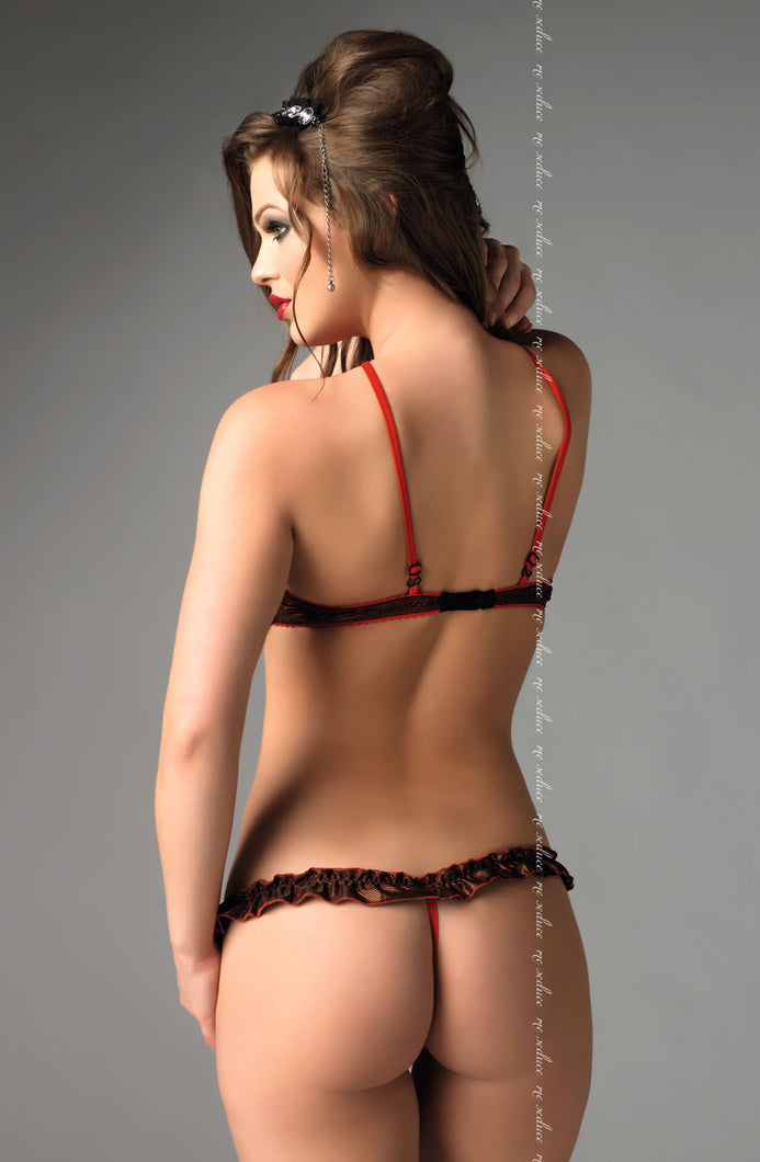 ME SEDUCE Rita Lingerie Set Black/Red