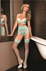 ROZA CARYCA SUSPENDER BELT CREAM/MINT