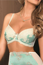 Load image into Gallery viewer, ROZA CARYCA PUSH UP BRA CREAM/MINT