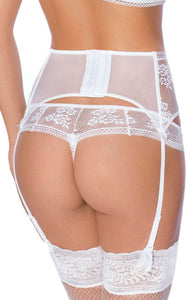 ROZA EUTERPE SUSPENDER BELT WHITE