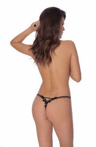 ROZA FIONA THONG BLACK