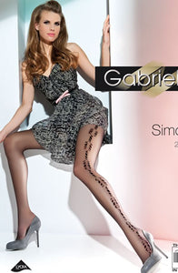 Gabriella Fantasia Simona Tights Nero Black Hosiery