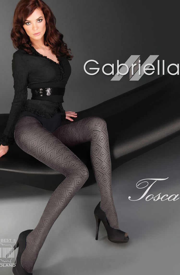 GABRIELLA FANTASIA TOSCA 460 TIGHTS HOSIERY - SMOKY