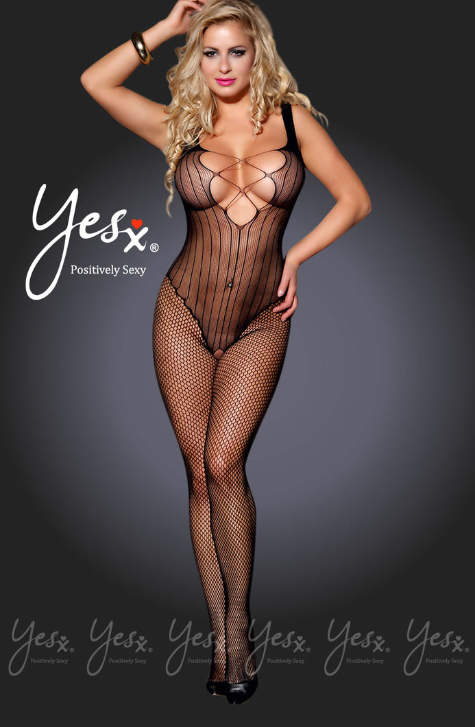 Yesx YX938 Bodystocking Black